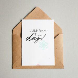 EA Design Julkort Julkram till dig