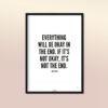 EA-Design-Everything-will-be-okay-Art Print